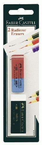 Faber-Castell 188296 Radierer 7081/7070-40 - 2 Stück auf Blisterkarte