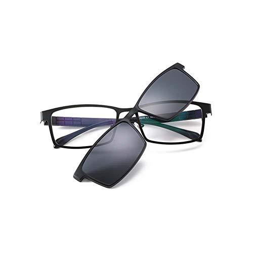 e9b6234b5e Z&HA Marco De Anteojos para Hombre Marco Óptico Gafas Graduadas Marco con Lentes  Polarizadas con Clip