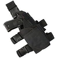 Ajustable de pierna para pístola táctica Airsoft pistola de gota pierna cinturón pierna htuk®, negro