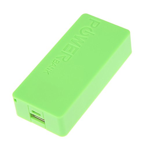 Rrimin Mobile Power Bank DIY Suite Kit for 2x18650 Battery Charger Box (Green)