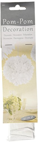 CREATIVE Folat Animadora Pompones (30 cm), Color Blanco