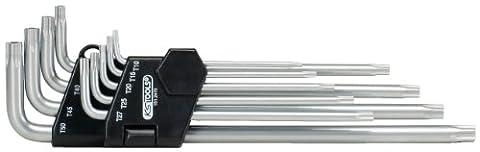 KS Tools 151.2470 Jeu de clés mâles 5 pans percées extra longues 9 pièces