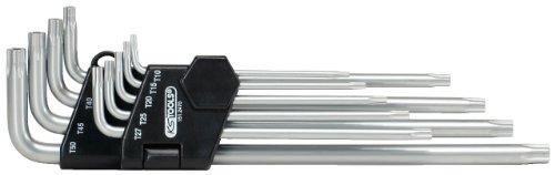 KS Tools 151.2470 Fünfstern-Winkelschlüssel-Satz, Bohrung, lang, 9-tlg.