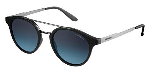 Carrera 123/s nm qgg, occhiali da sole unisex-adulto, nero (mtblk dkruth/grey sf turquoi), 49