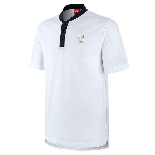 Nike Herren Court Polo-Shirt (tennisbekleidung), Weiß/Schwarz/Metalische-Gold, XL (Schwarz Und Gold-shirt Von Nike)