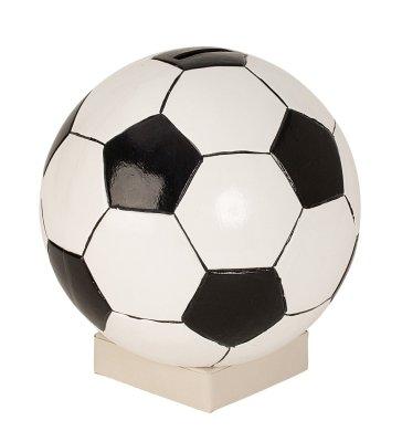 """große Sparbüchse,Spardose,Sparschwein \""""Fußball\"""" Höhe ca. 18 cm,B Ware!"""