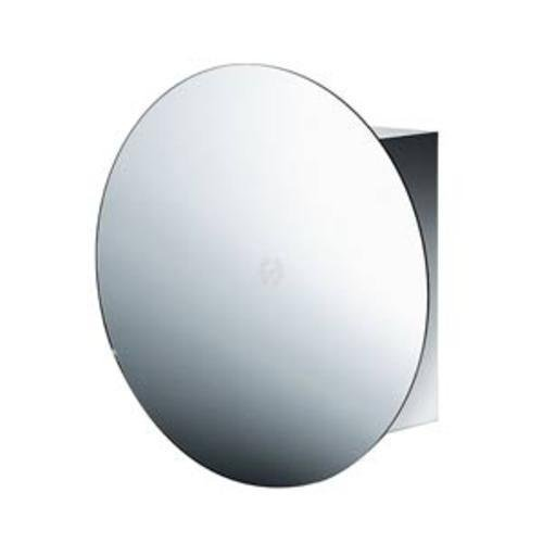 Lineabeta PIKA' Schrank mit runder Spiegeltür, Ausführung: Edelstahl, Tür: verspiegelt, 51512.29 -