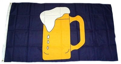 Flaggenking Flagge/Fahne, Bierkrug, wetterfest, mehrfarbig, 150x90x1 cm, 16353