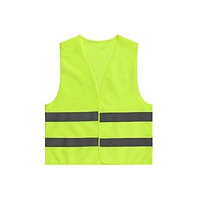 Xuxuou 1 Stück Warnwesten Reflektierende Sicherheitsweste Gelb 360 Grad Stark Sichtbar Hygieneweste für reflektierende Kleidung