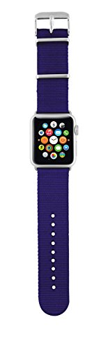 Trust Urban - Correa de nylon para Apple Watch, 42 mm, color azul con rayas