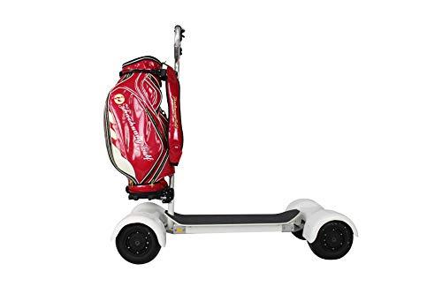 KANGLE PGM Golf Rädern Reisetasche Abdeckung mit Base -Doppeldeck, dickere, Wasserdichte Nylon, Faltbare Golf Luftfahrt Tasche Golf Air Paket,Orange