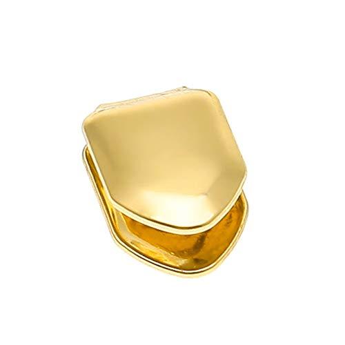 Fliyeong Kreative Hip Hop Zähne Gold Silber Abnehmbare Grillz Zähne Kostüm Zubehör Gold