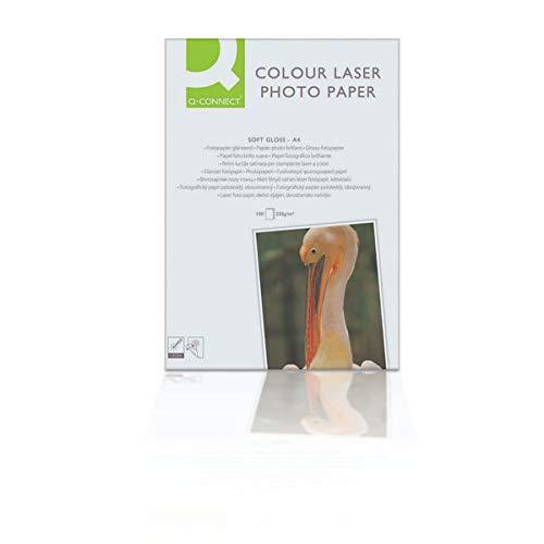 Q-Connect Papel Foto Glossy Din A4 Para Fotocopiadoras