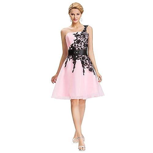 Abendkleider Kurz Rosa: Amazon.de