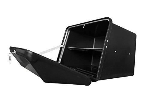 Portaequipajes Moto baúl Reparto Negro/Negro con Bandeja y Reflectantes homologados, Cierre Cerradura