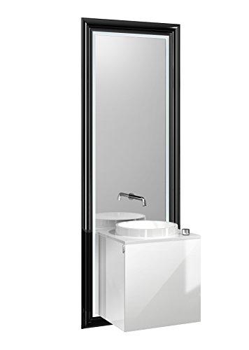 Emco Türgriff (emco touch classic Waschplatz, 45 cm Rahmen Schwarz,Front Optiwhite,Griff links)