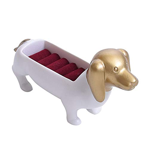 Tubayia Hund Form Schmuck Ring Display Rack Ringhalter Ohrring Ohrstecker Organizer