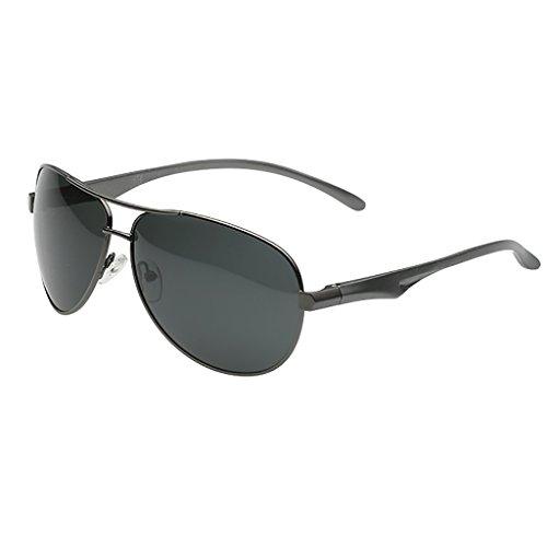 Ppy778 Classic Aviator Polarized Pilot Mirrored UV400 Schutz Fahren Sonnenbrille Mit Premium Metallrahmen Für Herren Damen (Color : B)