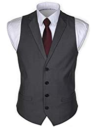 Ruth&Boaz 2Pockets 4Buttons Business Tailored Collar Suit Waistcoat