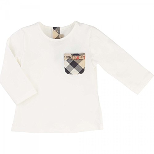 burberry-t-shirt-manches-longues-blanc-6-monat-weiss