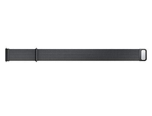 etic Loop Edelstahlarmband Edelstahl Metall MagnetUhrenarmband für Samsung Galaxy Watch 42mm(Schwarz) ()