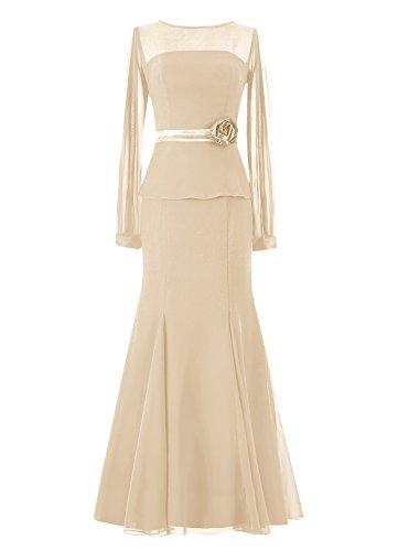 Dresstells, Robe longue de demoiselle d'honneur Robe de mère de mariée Tenue de mariage Champagne