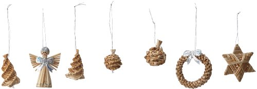 Brauns Heitmann 83063 - Adornos de paja para árbol de Navidad (30...