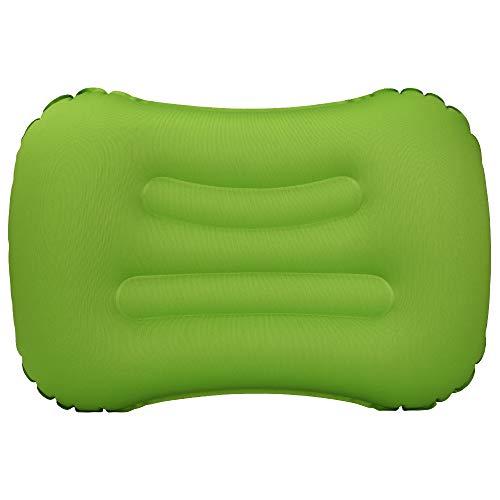 VICKSONGS Cuscino da Gonfiabile,Cuscino Gonfiabile da Campeggio, Cuscino Gonfiabile da Campeggio Impermeabile Leggero Portatile Compatto per Supporto da Collo per Campeggio Spiaggia (Verde)