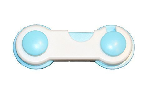 Kinder Baby Sicherung für Schrank Tür Schublade Schloss Door Lock Riegel Kommode (Blau) (Kommode Lock)