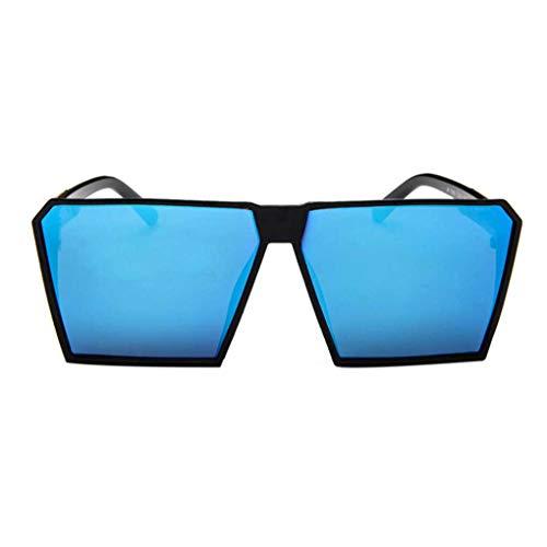BoburyL Große quadratische Sonnenbrille Männer Männliche Dazzling Brillen Trendy Retro Brillen Shades mit großem Rahmen