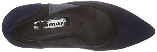 Tamaris 22429, Chaussures à talons - Avant du pieds couvert femme Multicolore - Mehrfarbig (Navy Comb 890)