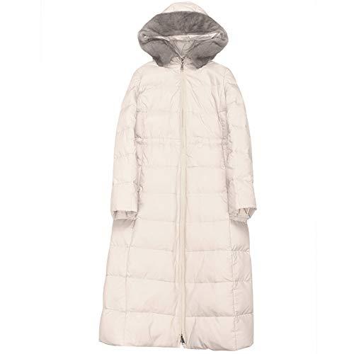 Imzoeyff Damen Daunenjacke Luxus Mantel Mantel Hohe Qualität Große Plüsch Kragen Mit Kapuze Schlanke Lange Nähte Schaffell Unten Kleidung,M - Schaffell-kragen