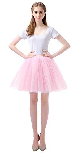Feoya Damen Tütü Rock Tutu Minirock 50er Jahre Retro Ballettrock Unterrock Kurz Cosplay Petticoat Tanzkleid in Verschiedenen ()
