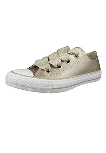 Converse Damen Chuck Taylor CTAS Big Eyelets Ox Sneakers, Mehrfarbig (Metallic Gold/White 752), 38 EU