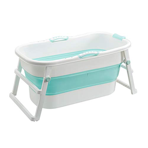 GY Bañera Plegable, Adulto Portatil Cubo De Baño Plástico Grande con Tapa...