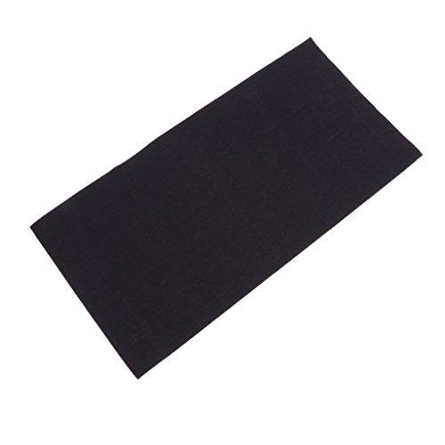 Baoblaze kit di toppe per riparazione di giubbotto antipioggia in nylon non rivestito con tasca esterna - nero, 22x12.5cm