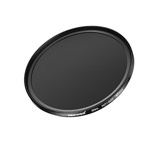 Neewer Slim 67MM Neutrale Dichte ND 1000 Kamera Objektiv Filter 10 Stopp Optisches Glas und Mattschwarze Flamme für Objektiv mit 67MM Gewindegröße, ideal für Weitwinkelobjektive