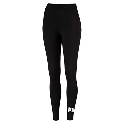 PUMA Women's ESS Logo Leggings Pants, Cotton Black, X-Small
