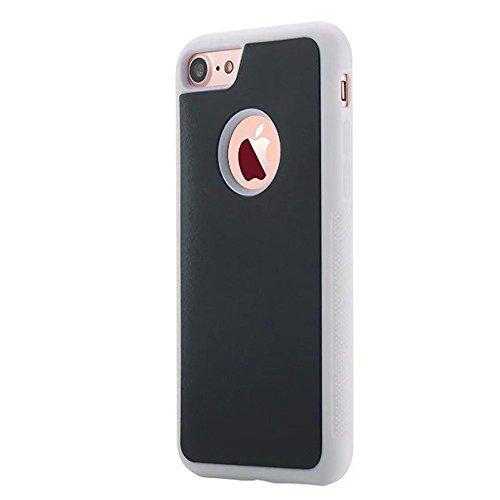 EKINHUI Case Cover IPhone 6 Cover, Anti Gravity Case Selbststab Kunststoff zurück Deckel mit Loch auf Rückseite forIPhone 6 ( Color : Black , Size : IPhone 6 ) White