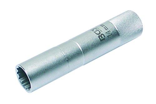 BGS Zündkerzen-Einsatz 14 mm, 12-kant, 10 mm, 3/8 Zoll, Länge 90 mm, 2446