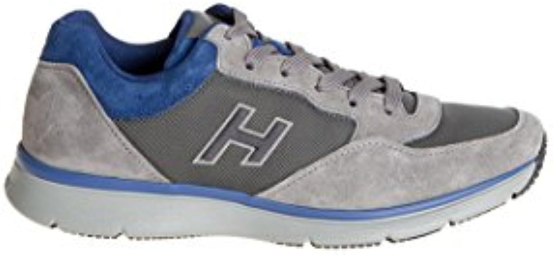 Hogan Hombre Hxm2540s420e4u559n Azul/Gris Gamuza Zapatillas