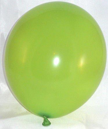 50 Stück LOLLIPOP Latex-Rundballon, limonengrün / hellgrün, ca. 30 cm Ø, ca. 90/100 cm Umfang