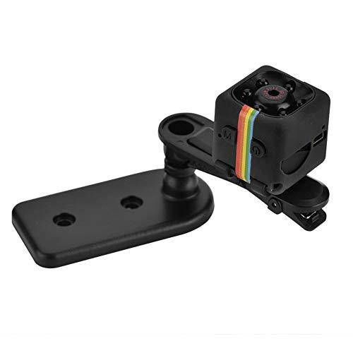 Mini camera 1080p hd, microcamere spia 12mp 140° grandangolare mini sport cam nanny web cam con visione notturna infrarossi e rilevatore di movimento per casa, ufficio, esterno(nero)