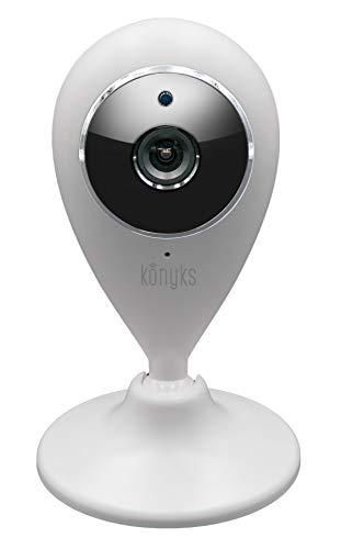 Konyks Camini - Caméra WiFi Full HD 1080P, Micro et HP intégrés, Vision de Nuit, détection de Mouvement avec Notifications Smartphone, automatisations faciles avec l'appli Konyks,