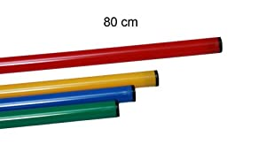 agility sport pour chiens - jalon, longueur 80 cm, Ø 25 mm, rouge - 1x 80r