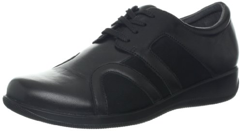 Softwalk Topeka étroit Cuir Baskets Black