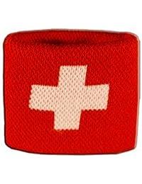Digni® Poignet éponge avec drapeau Suisse - Pack de 2 pièces