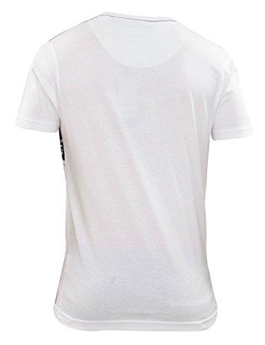 Mens Feuer Falle Kurzarm T Shirt T-Shirt Marken-lässige Tops gedruckt TABB-White