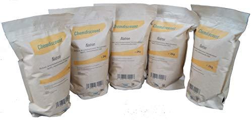 10kg (5x2kg) Natron im Kraftpapier-Standbodenbeutel (wiederverschließbar), versandkostenfrei, Lebensmittelqualität