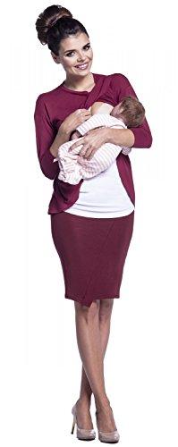 Zeta Ville - Maternité top de grossesse d'allaitement cache-coeur - femme - 446c Cramoisi